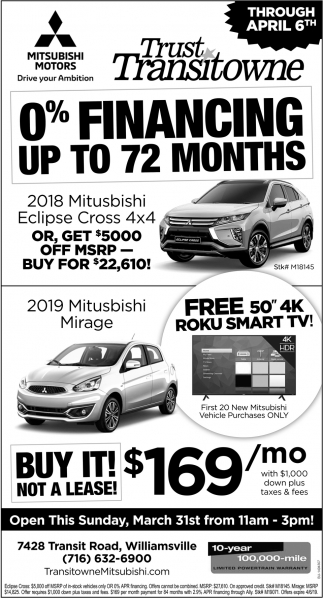 0% Financing Up To 72 Month