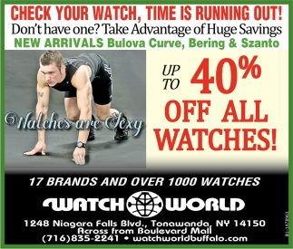 40% Off All Watches!