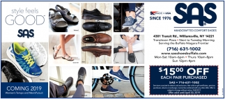 $15 Off All Sas Shoes & Sandals