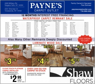 Payne's Carpet Outlet