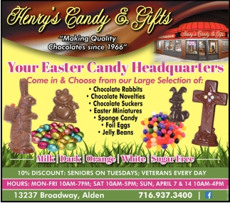 Your Easter Candy Headquarters