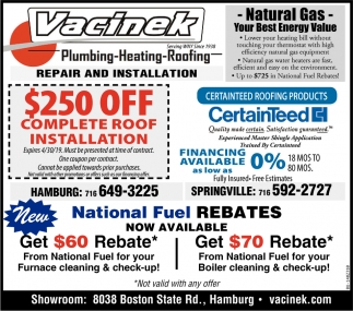 National Fuel Rebates