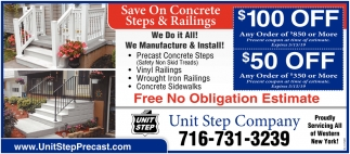 Save on Concrete, Steps and Railings