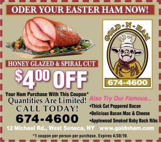 Order Your Eastern Ham Now!
