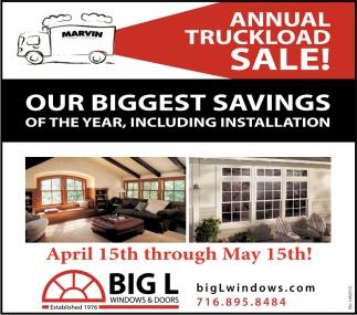 Annual Truckload Sale!