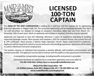 Licensed 100-Ton Captain