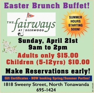 Easter Brunch Buffet!