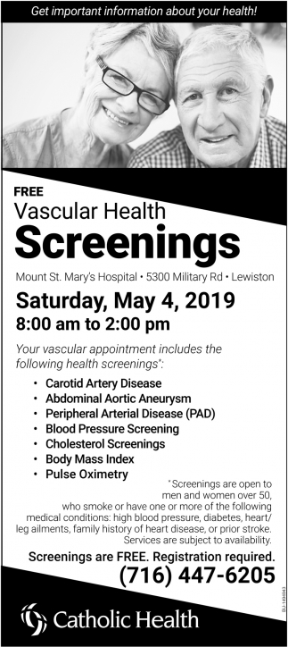 Vascular Health Screenings