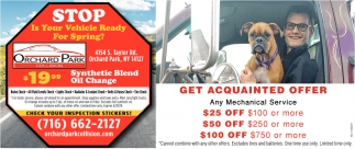 Get Acquainted Offer