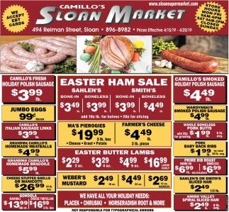 Easter Ham Sale