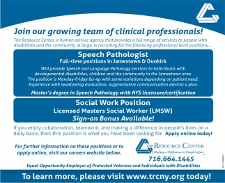 Join Our Growing Team Of Clinical Professionals!