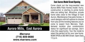 East Aurora Model Grand Opening