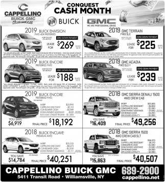 Conquest Cash Month
