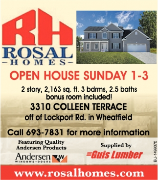 Open House Sunday 1-3