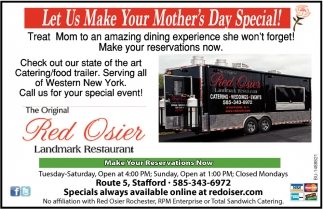 Let Us Make Your Mother's Day Special!