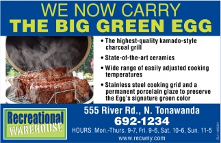 We Now Carry The Big Green Egg