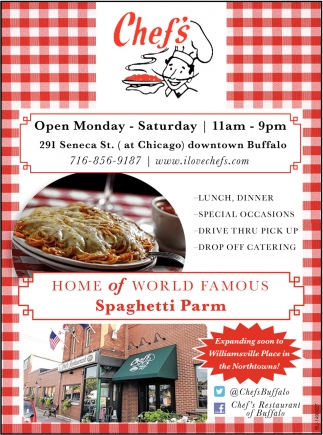 Home Of World Famous Spaghetti Parm