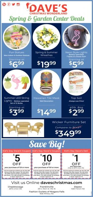 Spring & Garden Center Deals