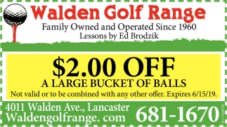 $2.00 Off A Large Bucket Of Balls