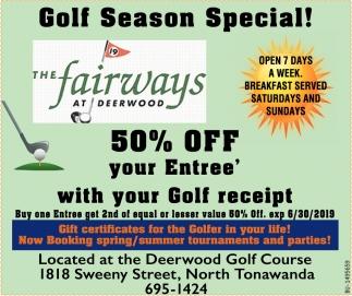 Golf Season Special!