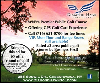 Bring In This Ad For $5 Off A Round Of Golf!