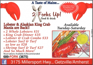 Lobster & Alaskian King Crab Mania are Back!
