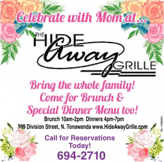 Come for Brunch & Special Dinner Menu Too!