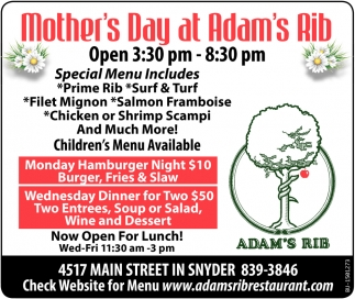 Mother's Day at Adam's Rib