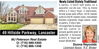 Newly Listed Stately Traditional