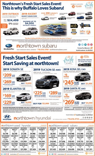 Northtown's Fresh Start Sales Event!