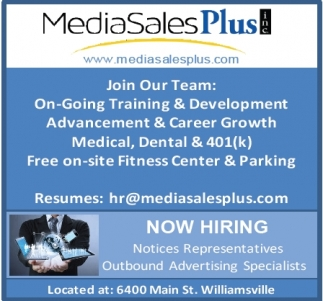 Now Hiring Notices Representatives and Outbound Advertising Specialists