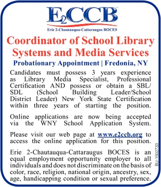 Coordinator of School Library System and Media Services