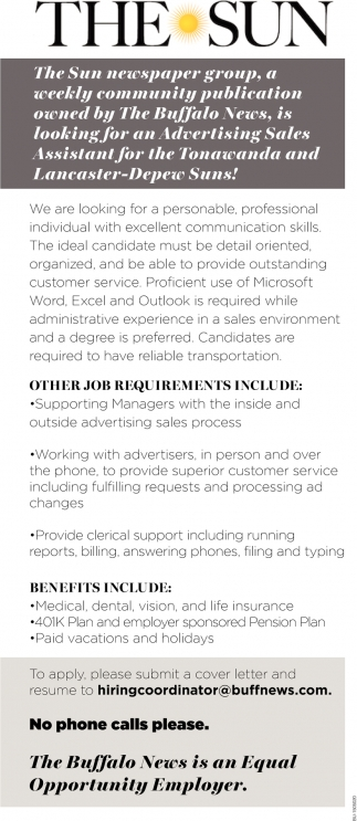 Advertising Sales Assistant