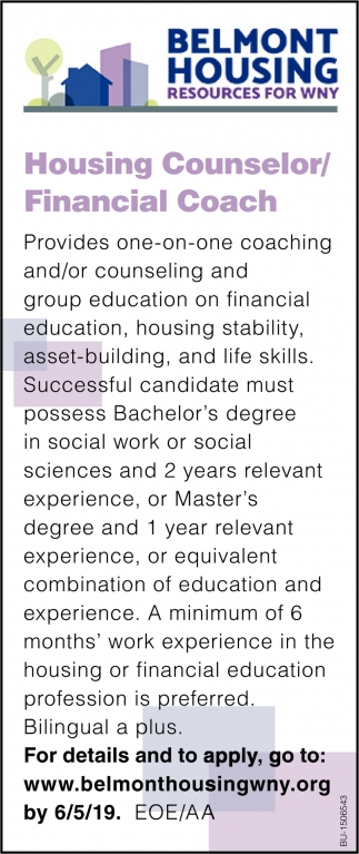 Housing Counselor/ Financial Coach