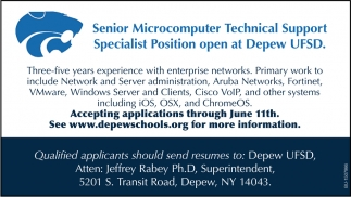 Senior Microcomputer Technical Support Specialist