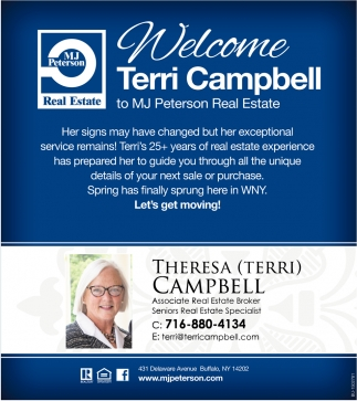 Welcome Terri Campbell