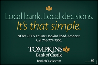 Local Bank. Local Decisions. It's that Simple