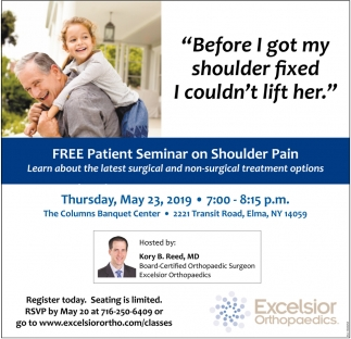 FREE Patient Seminar On Shoulder Pain