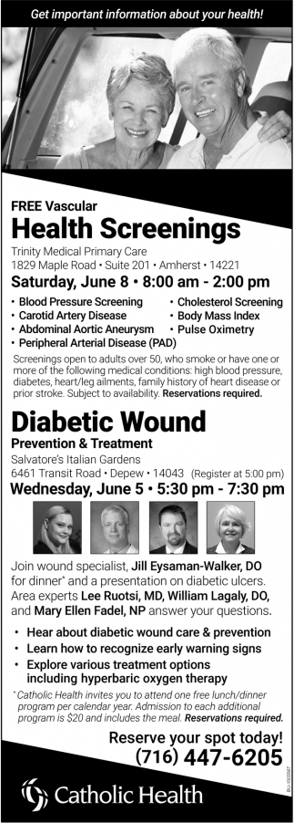 FREE Vascular Health Screenings