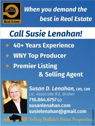 Call Susie Lenahan!