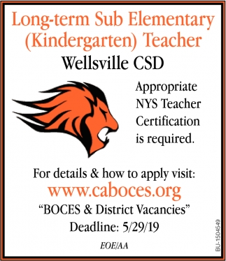 Long-Term Sub Elementary (Kindergarten) Teacher