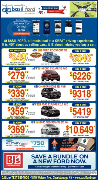 Save a Bundle On a New Ford now