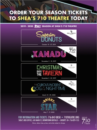 Order Your Season tickets to Shea's 710 Theatre Today