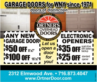 Garage Doors for WNY Since 1971