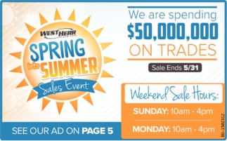 Spring Into Summer Sales Event