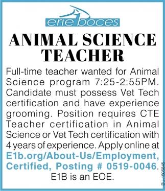 Animal Science Teacher