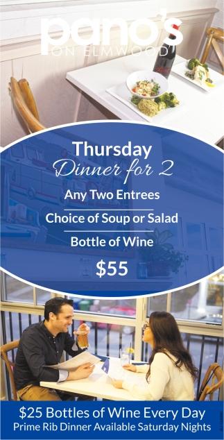 Thursday Dinner for 2