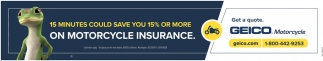 15 Minutes Could Save You 15% or More On Motorcycle Insurance