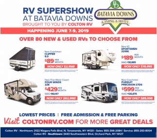 RV Supershow at Batavia Downs