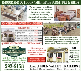 Indoor and Outdoor Amish-Made Furniture & Sheds